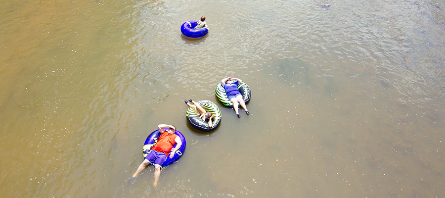 Tubing at Little Mexico Campground